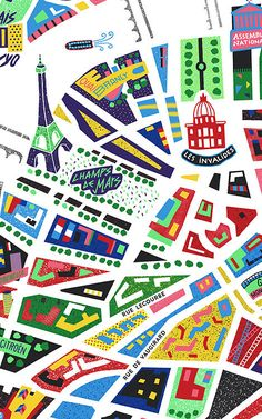9 | An Awesome Neon Map Of Paris | Co.Design | business + design