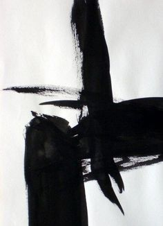 Abstract black ink art