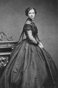 1866   Princess   Dagmar (sister of Princess/Queen Alexandra of England) wearing evening dress