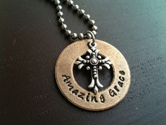Mixed Metal Hand Stamped Jewelry  Necklace by Faithfulimpressions1, $28.00