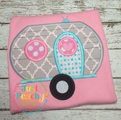 Camper Applique Embroidery Design