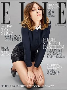 Alexa Chung- Elle Cover  Girls in boys' clothes