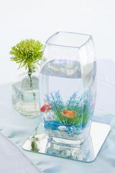Goldfish Centerpieces | ASHLEY LYNN PHOTOGRAPHY | http://knot.ly/6494Bt9Rg | http://knot.ly/6495Bt9R9
