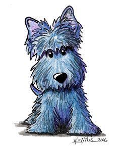KiniArt K9 Keanu Scottie Terrier Fine Art Print.