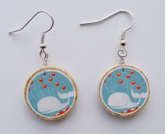 #Twitter Whale Earrings #WebMediaUniversity