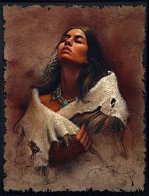 Collectors know Lee Bogle for his images of Native Americans, often solitary figures of women whose beauty far surpasses the super. Native American Girls, Native American Wisdom, Native American Pictures, Native American Beauty, American Indian Art, Native American Tribes, Native American History, Native Indian, Native Art