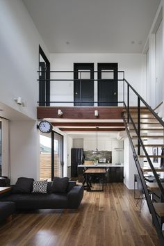 Loft Interior Design, Loft Design, Home Room Design, House Floor Design, Small House Design, Home Building Design, Home Design Plans, Building Homes, Small Loft Apartments