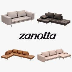Zanotta Bruce Sofa Set 3D Model .max .c4d .obj .3ds .fbx .lwo .stl @3DExport.com by Semsa