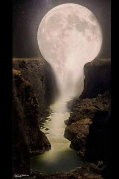 Moon, spilling over