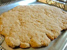 1 c. flour  1/3 c. whole wheat flour  1/4 c. sugar  5 T. butter   4-5 T. milk  unleaven bread recipe found at catholiccuisine.blogspot.com