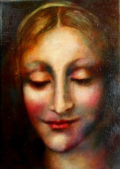 Portrait.oil on canvas.21/15cm. Mona Lisa, Paintings, Oil, Portrait, Canvas, Artwork, Art Work, Work Of Art, Paint