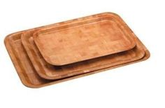 Woven Wood Rect Tray 40 x 30cm