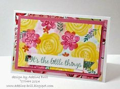 Welcome to My Creative Space with Adeline Brill: November Stamp of the Month Blog Hop #Brushed #tutorial