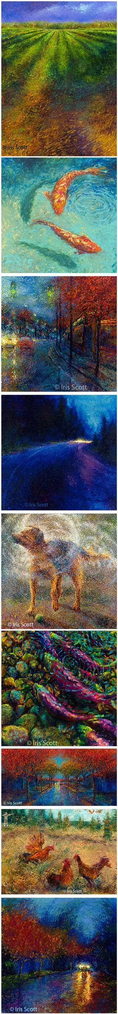 iris scott finger painting | Finger Paintings by Iris Scott