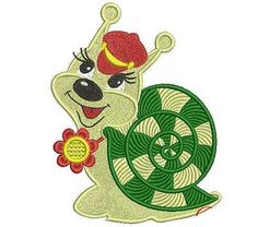 Snail embroidery design. Disney embroidery