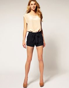 Asos Belted shorts with turn up.  Cool, comfortable and casual