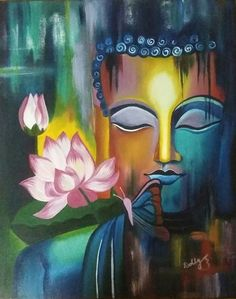 Buy Meditating Buddha Handmade Painting by Dolly Ghosh. - Paintings for Sale online in India. Buddha Kunst, Buddha Art, Buddha Meditation, Meditation Music, Buddha Painting, Lotus Painting, Ganesha Painting, Peacock Painting, Canvas Art For Sale