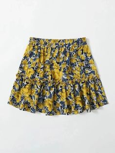 Girls Allover Floral Print Frill Trim Skirt – Kidenhouse