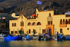 Seaside town hall and small fishing boats. Places Around The World, Around The Worlds, Small Fishing Boats, Greek Beauty, Photo Sketch, Seaside Towns, Town Hall, Greek Islands, Greece Travel