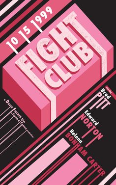FIGHT CLUB [Movie Poster Series] by Mike Tapia, via Behance