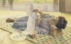 Girl Reading a Newspaper by Wada Eisaku (Geidai Museum) - 和田英作 - Wikipedia Kagoshima, Reading Nook, Reading Art, Woman Reading, Best Memories, Newspaper, Good Books, Childhood, Japan