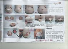 Eu já havia publicado o molde desta doll, mas agora eu encontrei o tutorial completo, espero que gostem