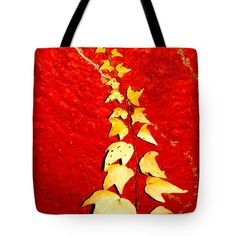 "Golden Leaves Tote Bag 18"" x 18"" by Rumyana Whitcher"