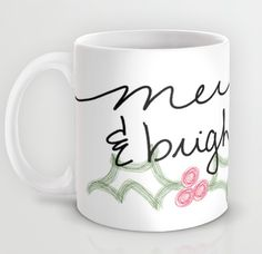 The perfect #festive #holiday mug! Merry & Bright! #Merry #bright find it here: http://midwest-prep.com/december-print/