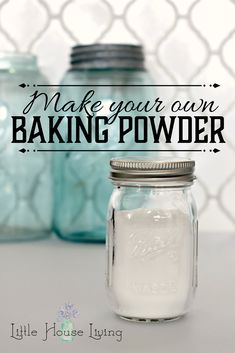 Out of baking powder and need a substitute? This Homemade Baking Powder recipe is one to tuck away for later! Only 2 ingredients needed. Homemade Baking Powder, Baking Powder Recipe, Homemade Dry Mixes, Baking Soda Uses, Homemade Spices, Homemade Seasonings, Substitute For Baking Powder, Make Baking Powder, Homemade Gifts