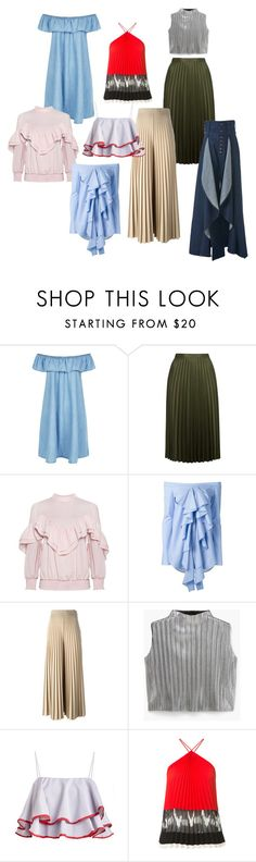 """Ruffles & Pleats"" by thedailyuniform on Polyvore featuring New Look, Topshop, E L L E R Y, Givenchy, MANGO, Altuzarra and Anne Sofie Madsen"