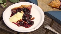 Blueberry, Pecan and Rosemary Open-Faced Pie Food N, Food And Drink, Blueberry Farm, Pastry Shells, Berry Pie, Pie Dessert, Food Videos, Pecan, Berries