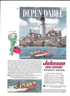 35 best vintage johnson outboard motor ads images on pinterest 1952 johnson motors color ad the sea horse 25 hp portland headlight fandeluxe Image collections