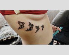 Girl Rib Tattoos, Rib Tattoos For Women, Tiny Tattoos For Girls, Mini Tattoos, Body Art Tattoos, Dainty Tattoos, Pretty Tattoos, Cute Tattoos, Small Tattoos