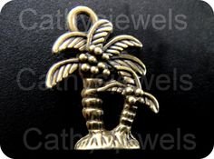 Palm Tree Charms 6 Pieces by Cathysjewels on Etsy (Craft Supplies & Tools, Jewelry & Beading Supplies, Beads, metal, charm, findings, cabochon, scrapbooking, alloy, jewelry supplies, cathysjewels, vintage, pendant, tibetan, bronze, tree)