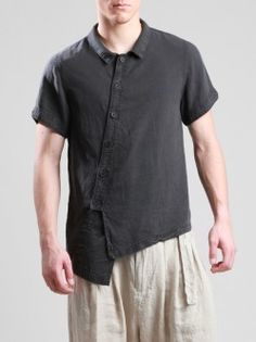 ASYMMETRIC TENCEL SHIRT