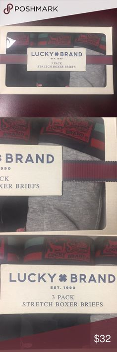 🍀 Lucky Brand 3 Pack Stretch Boxers Briefs 🍀 Lucky Brand 3 Pack Stretch Boxers Briefs Brand new and Never used Size.   Waist    M    (32 - 34) Lucky Brand Underwear & Socks Boxer Briefs