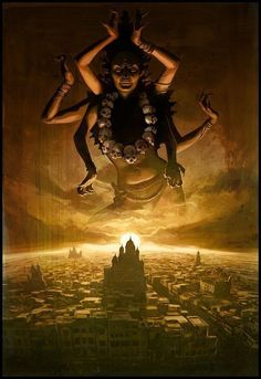 Kali Ma - This picture doesn't really fit in this gallery, but I do like the Goddess Kali and this is a great, modern representation.