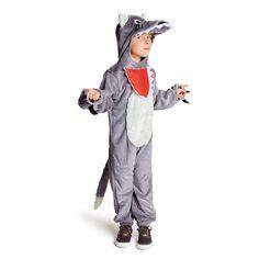Le déguisement de Loup transforme l'enfant en personnage du conte de Perrault ou bien en animal, tout simplement. Il enfile la combinaison, glisse sa tête dans la gueule du loup et ajuste ses griffes au bout de ses doigts. Puis il part à la recherche du Chaperon rouge ou d'autres personnages. L'enfant-loup doit être particulièrement vigilant à ne pas se faire tirer la queue. Comme elle se détache, il risque de la perdre. Les aventures à vivre sont infinies.