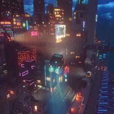 Cyberpunk fliegende Auto Neon Zukunft What's Illustration? Best Representation Samples of the Year The representation Cyberpunk City, Cyberpunk Aesthetic, Arte Cyberpunk, Futuristic City, Futuristic Architecture, Cyberpunk Tattoo, Cyberpunk Anime, Cyberpunk Fashion, Cyberpunk 2077