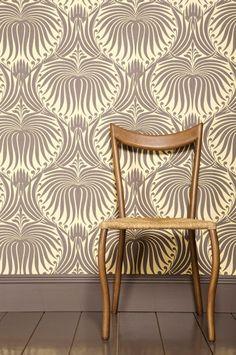 Arts and Crafts wallpaper--beautiful!