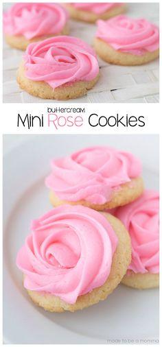 Buttercream Mini Rose Cookies