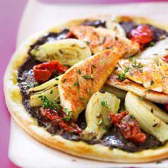 Pizza au rougetVoir la recette de la Pizza au rouget >>