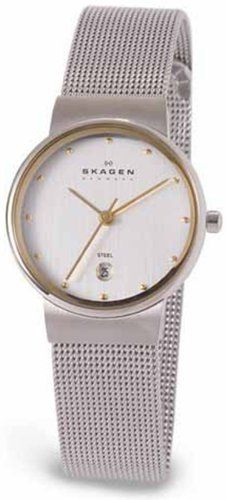 Skagen Women`s 355SGSC Two-Tone Mesh Watch for only $67.72 You save: $32.28 (32%)