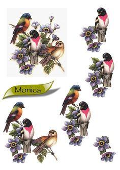 annimaux - Dominique M - Picasa webbalbum Decoupage Vintage, Decoupage Paper, Christmas Decoupage, Decoupage Printables, 3d Sheets, Cut Animals, Image 3d, 3d Pictures, Paper Birds