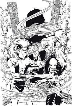 Cutter and Skywise from #Elfquest. Cover art from final issue of Marvel Epic line. www.elfquest.com