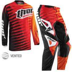 2015 Thor Phase Vented Kit Combo - Rift Red Orange