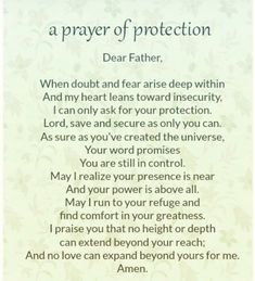 prayer for protection Prayer Scriptures, Bible Prayers, Faith Prayer, God Prayer, Power Of Prayer, Prayer Quotes, Spiritual Quotes, Night Prayer, Angel Prayers