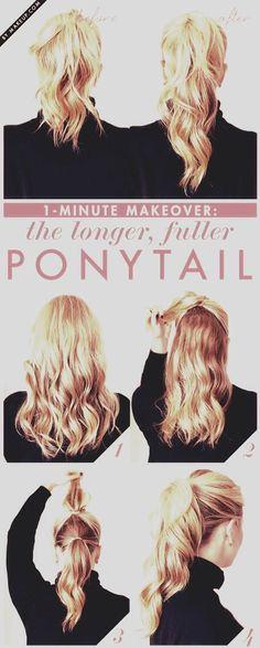 Longer & Fuller Ponytail Cheat