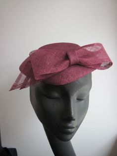 Womens Cocktail Hat Wine Bow New Look Wedding by MindYourBonce, £55.00