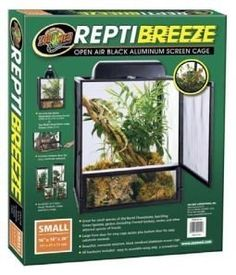 $62.99-$134.99 Open air aluminum screen cage! Great for small species of Old World Chameleons, Juvenile Green Iguanas and other arboreal species of lizards, such as Geckos, Anoles, etc. Large front door for easy cage access and bottom door for easy substrate removal. Beautiful corrosion-resistant black anodized aluminum screen cage. All hardware included; easy to assemble using only a screw drive ...